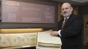 El editor Juan José García, en el Museo del Libro de Burgos
