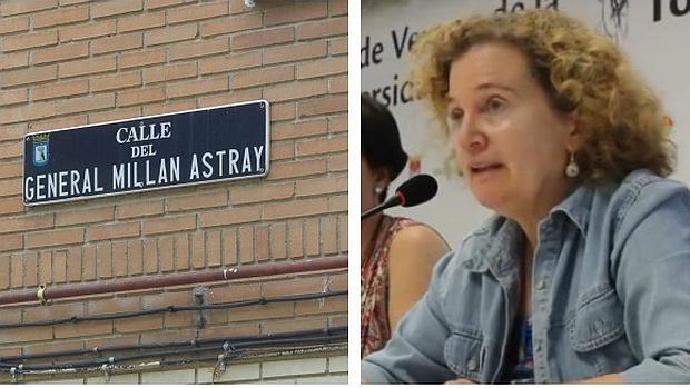 Una de las calles que se cambiarán y la historiadora