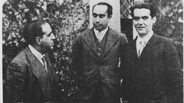García Lorca con Francisco Iglesias y Gregorio Marañón