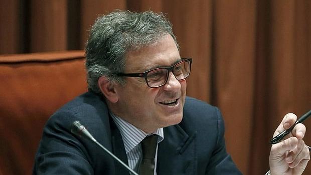Jordi Pujol Ferrusola, durante su comparecencia en la comisión de investigación del Parlamento catalán