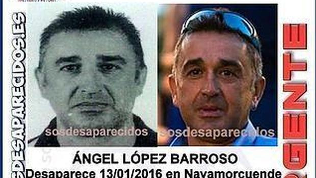 Cartel difundido con la imagen de Ángel López Barroso