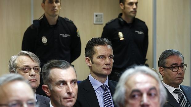 Iñaki Urdangarin, durante un momento del juicio el pasado lunes