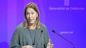 La consellera de la Presidencia, Neus Munté, en la rueda de prensa que ha ofrecido thoy ras la reunión del Govern