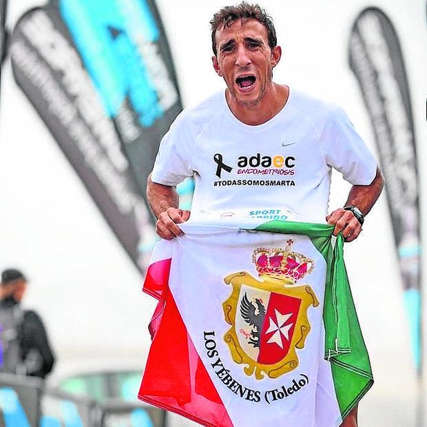 Tito, al terminar la carrera al pico Veleta en agosto del pasado año