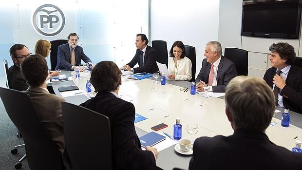 Mariano Rajoy presidiendo el comité ejecutivo del PP