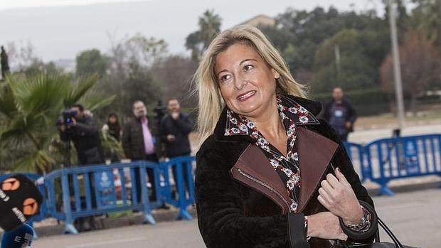 Virginia Lopez Negrete, abogada de Manos Limpias, a su llegada al juicio del caso Nóos