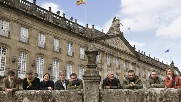 Imagen de Ribó durante su viaje a Galicia