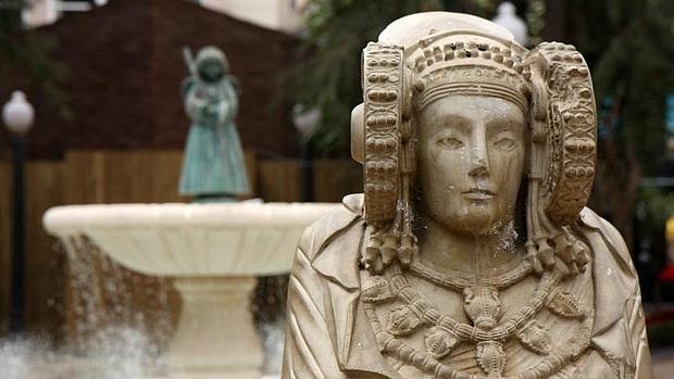 Busto de la Dama de Elche, en la reproducción que custodia el Ayuntamiento
