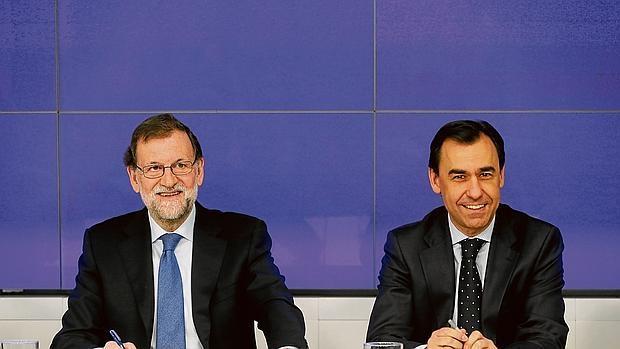 Rajoy y Martínez Maíllo, ayer en el Comité Ejecutivo