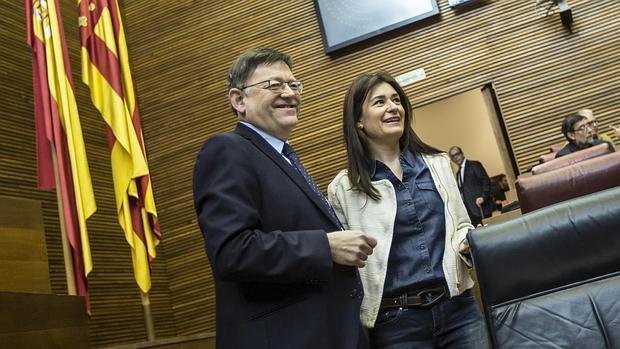 Imagen de Montón con el presidente de la Generalitat