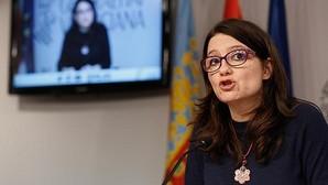 Mónica Oltra, durante la rueda de prensa del pleno del Consell este viernes