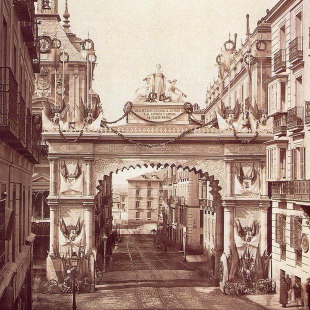 El Efimero Arco Del Triunfo Que Levanto Madrid Para Recibir Al Rey