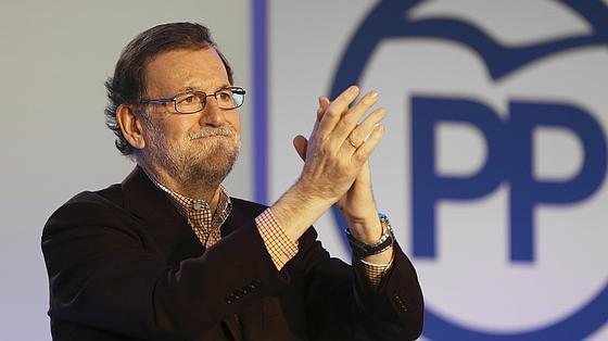 Mariano Rajoy este sábado en Salamanca en un acto con militantes