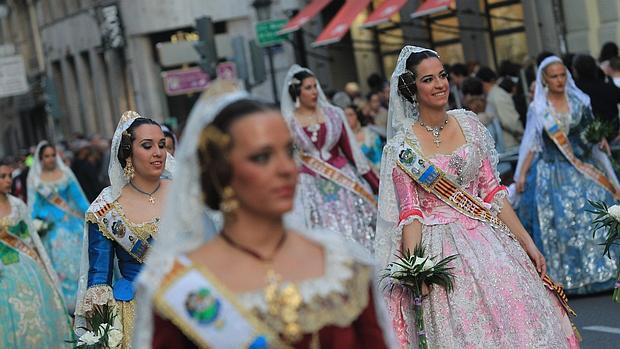 Imagen de la Ofrenda a la Virgen de los Desamparados de Valencia