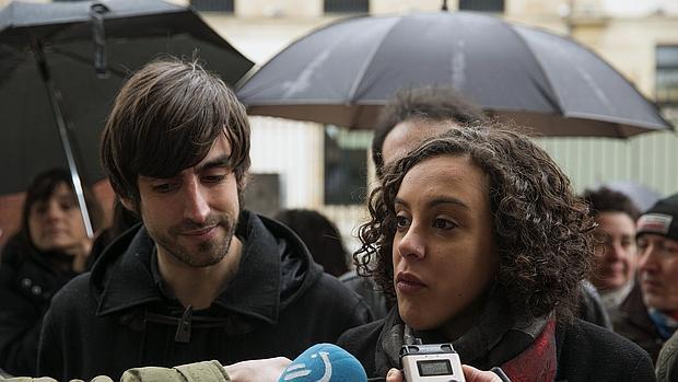 Nagua Alba, en una imagen de archivo, junto a su compañero de lista Eduardo Maura