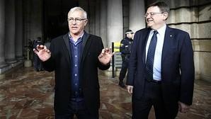 El alcalde de Valencia, Joan Ribó, con el presidente de la Generalitat valenciana, Ximo Puig