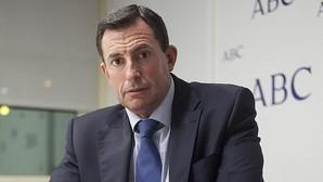Fernando Martínez Dalmau, en la redacción de ABC