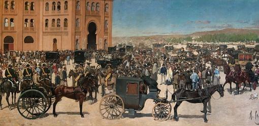 «Entrada de la plaza de toros de Madrid», de 1886
