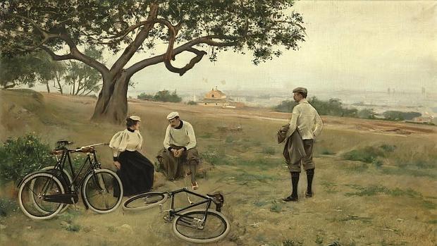 «El descanso de los ciclistas», de 1886