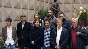 Foto de familia de los «alcaldes del cambio» en La Coruña