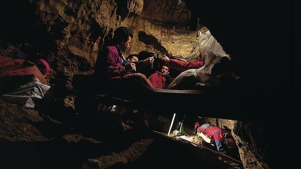 Sima de los huesos, en Atapuerca