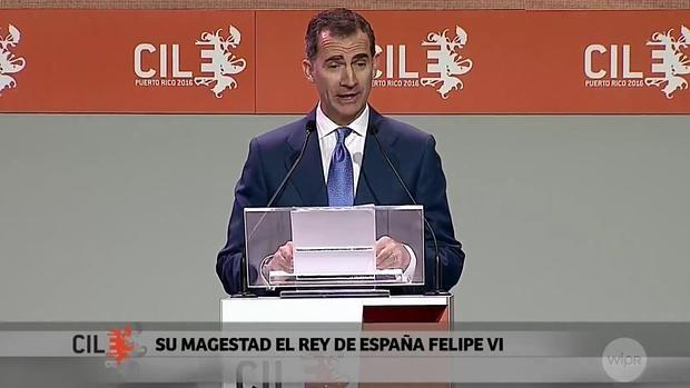 Llamativa falta de ortografía en el rótulo del Congreso Internacional de la Lengua Española que anunciaba a Don Felipe