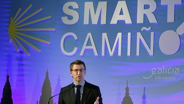 Alberto Núñez Feijóo, en la presentación ayer de «Smart Camiño»