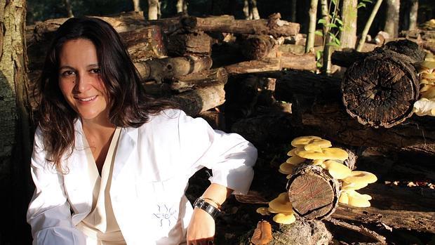 Catalina Fernández de Ana Portela, en A Quinta das Cabadas, en Pontevedra