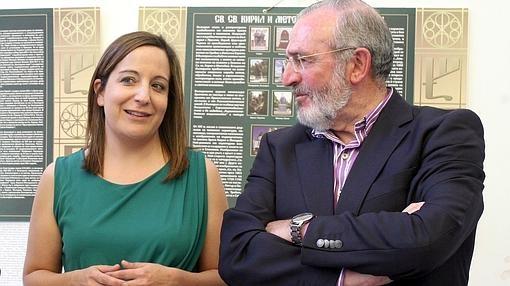 Los europarlamentarios Iratxe García y Díaz de Mera, en una imagen de archivo