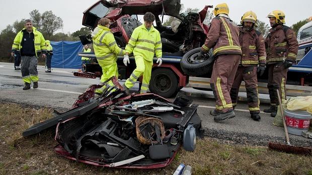 Siete muertos en una colisión frontal entre dos vehículos en Gerona