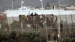 Uno de los asaltos a la valla de Melilla