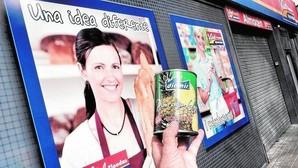 Lata de piña en su jugo de Diamir, comercializada por Nudisco en las tiendas Vidal