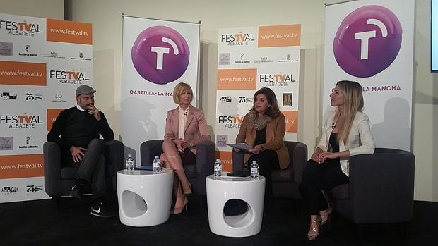 Agustín Durán, Ana Isabel Albares, Carmen Amores y Berta Collado