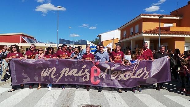 Imagen de Marzà en el acto celebrado por Escola Valenciana este sábado