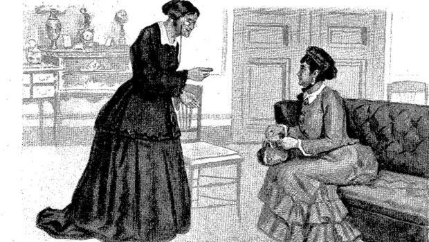 Ilustraciones de Blanco y Negro sobre la historia del timo de Doña Baldomera