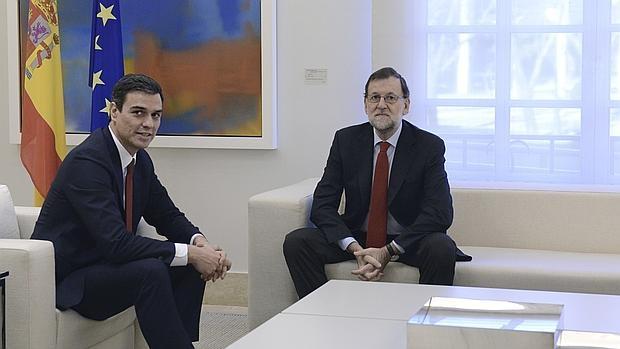 Imagen del pasado diciembre, durante una visita de Sánchez a La Moncloa