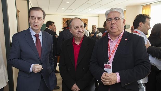 Germán Barrios, Faustino Temprano y el nuevo secretario provincial de UGT en Ávila
