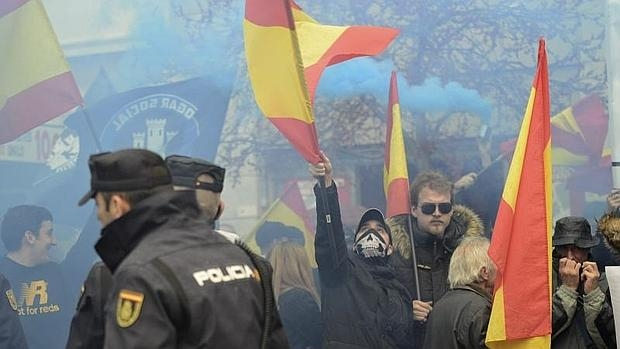 Una concentración del grupo neonazi Hogar Social