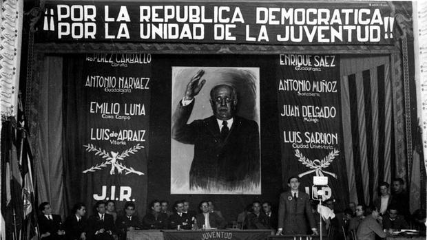 Imagen de un acto republicano celebrado en Valencia