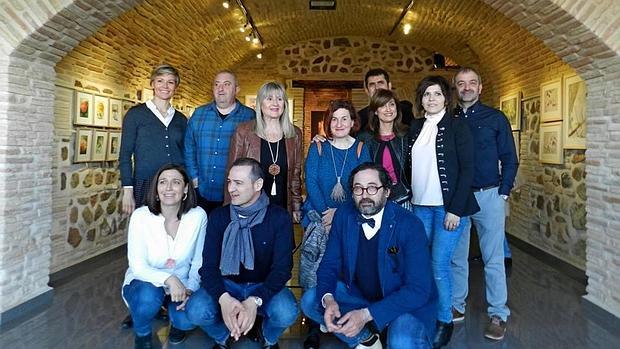 Los artistas, en la galería de arte Armas, 51
