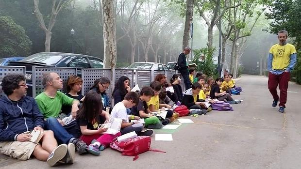 Alumnos y padres de la Escuiela El Bosc boicotearon el año pasado las pruebas
