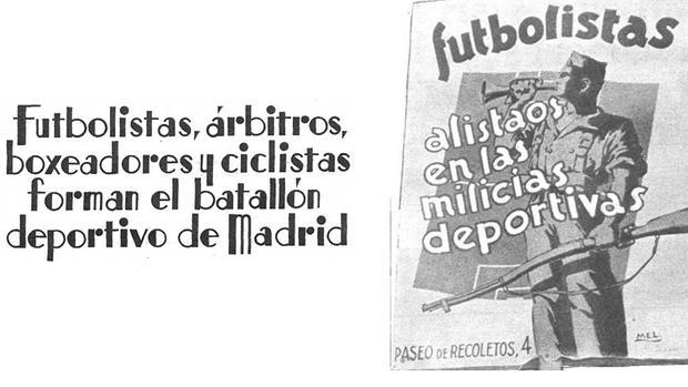 Cartel del «Batallón Deportivo» en la revista Estampa