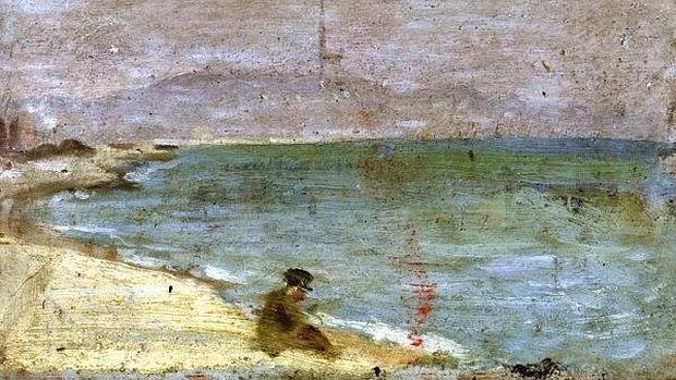 Cuadro «Hombre sentado en la playa de la Barceloneta», de Pablo Picasso