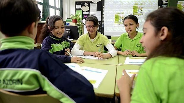 Alumnos de 5º de Primaria del Colegio Público Azorín