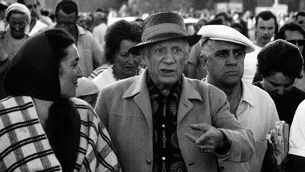 Picasso fotografiado por Hubertus Hierl
