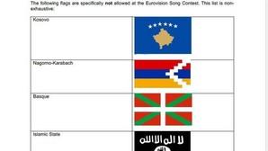 Eurovisión prohíbe la ikurriña y la bandera de Daesh