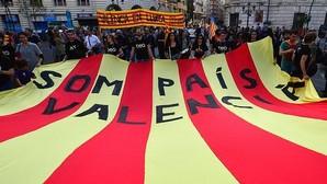 Imagen de la manifestación celebrada el sábado 23 de abril en las calles de Valencia