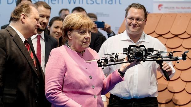 Merkel, durante un encuentro económico en Munich el pasado febrero
