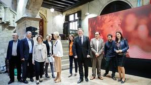 Imagen de la presentación del vídeo en el Palau de la Generalitat