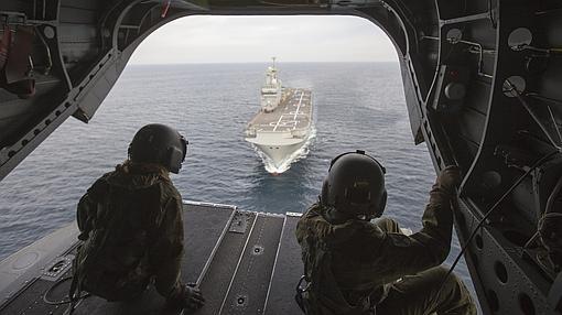 El Dixmude es el segundo buque más grande de la Marina francesa